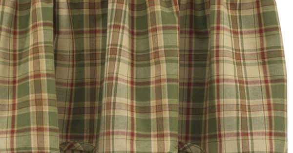 Country Curtains BJS Country Charm Sage Green Plaid Shower Curtain Park Designs Kitchens