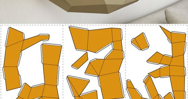 DIY Papercraft Fox 3D Paper Model On The Wall DIY Home