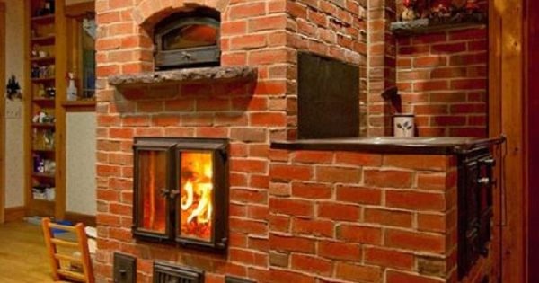 A Finnish Masonry Cookstove Heater Oven And Cookstove In