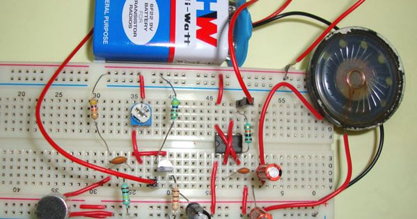 Simple Audio Amplifier Circuit Using Ic 555 555 Timer