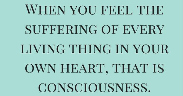 When you feel the suffering of every living thing in your ...