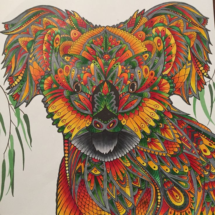 The Menagerie Koala Using Copic Markers My Adult