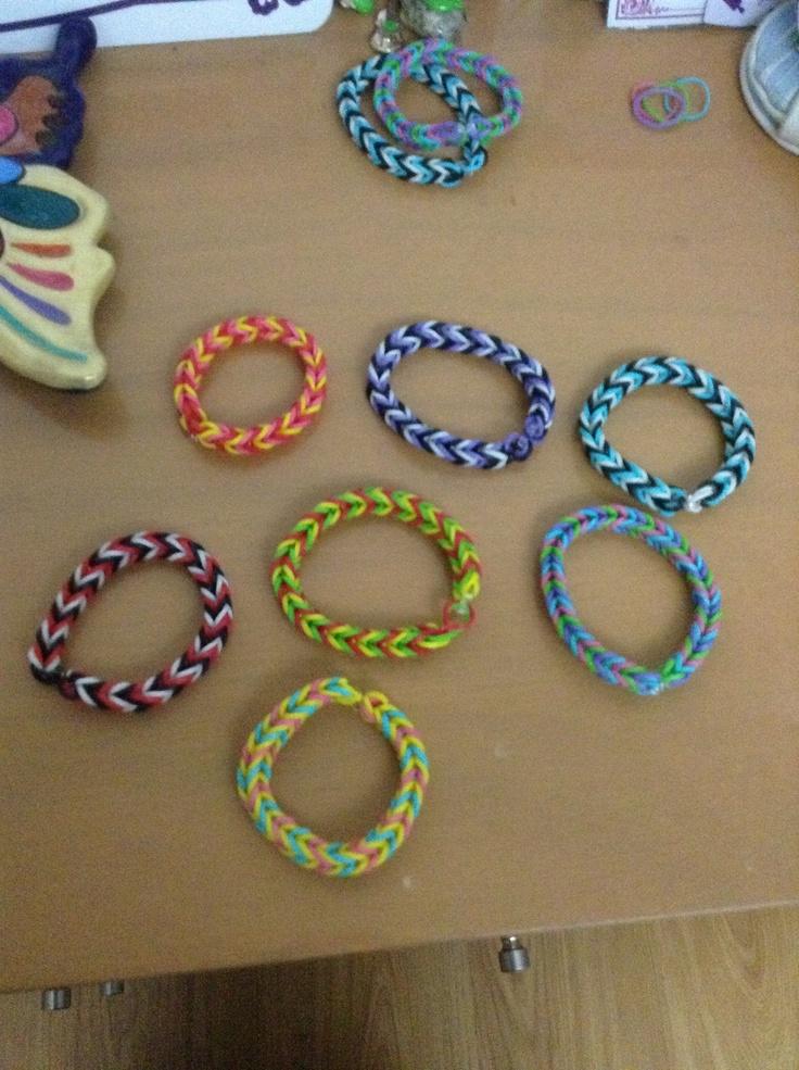 Pulseras De Ligas Bracelets Pinterest