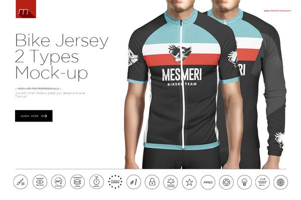 Download Bike Jersey 2 Types Mock-up | Product Mockup Templates to ...