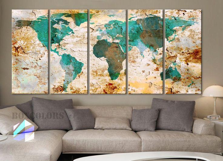 17 Best Ideas About World Map Canvas On Pinterest