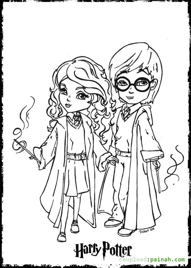 Harry Potter Coloring Pages Printable Cartoon Cute ...
