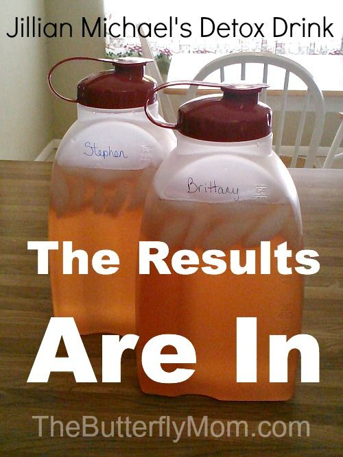 Real results for the Jillian Michael's #Detox Drink Cleanse.