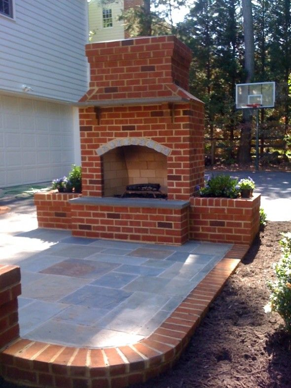 Outdoor Brick Fireplace Designs - WoodWorking Projects & Plans on Simple Outdoor Brick Fireplace id=59104