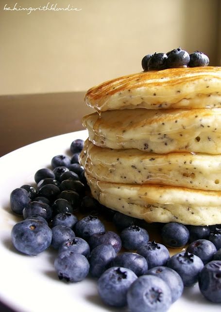 Lemon Poppyseed Pancakes with Fresh Blueberries (and strawberries!) – delicious. So, so delicious. Little tip – create a buttermilk substitute (youll have plenty of lemons!). Add 1 tablespoon of