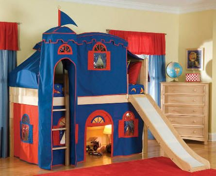 Castle Loft Bed With Slide Amp Play Area Underneath