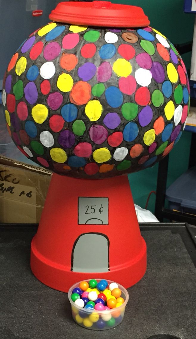 Painted A Pumpkin Like A Gumball Machine Copied Off
