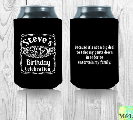 Custom Jack Daniels Koozie Perfect For Birthday Wedding