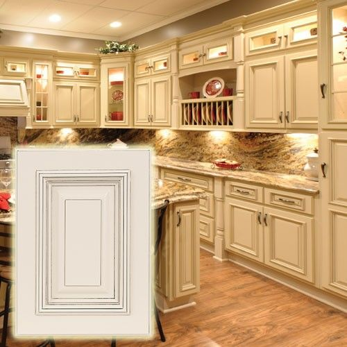 Heritage White Cabinets With Dark Glaze These Light