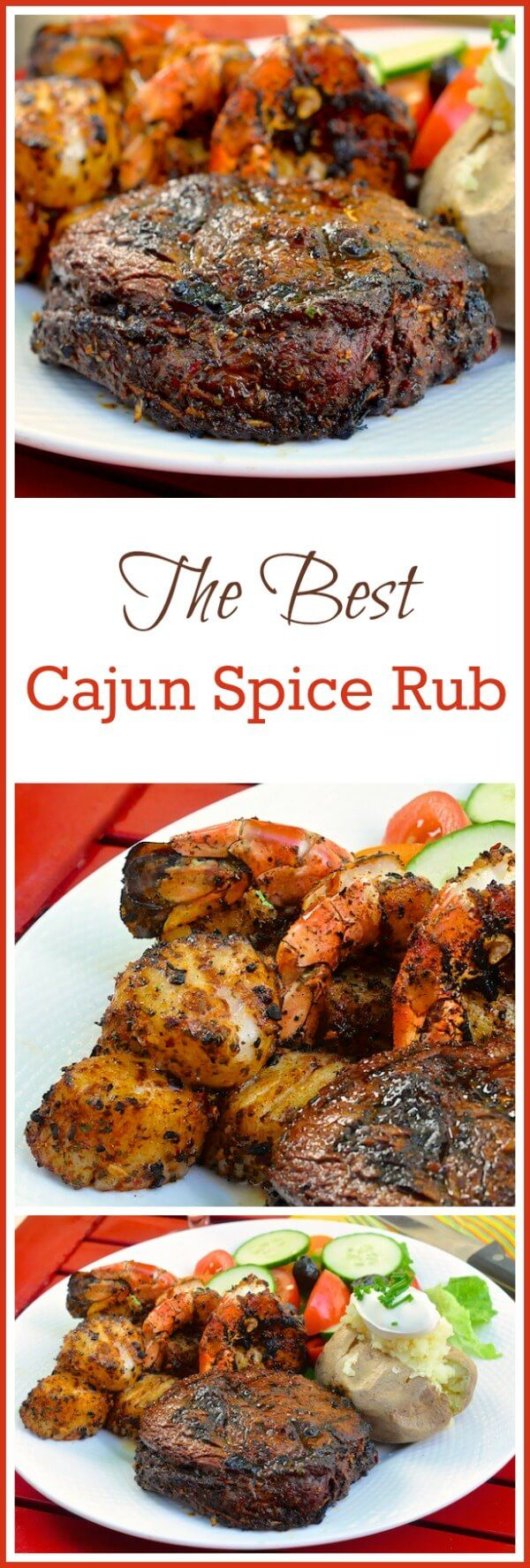 The Best Cajun Spice Rub – this versatile spice rub goes from grilled rib eye steaks to fresh seafood, like scallops & shrimp,