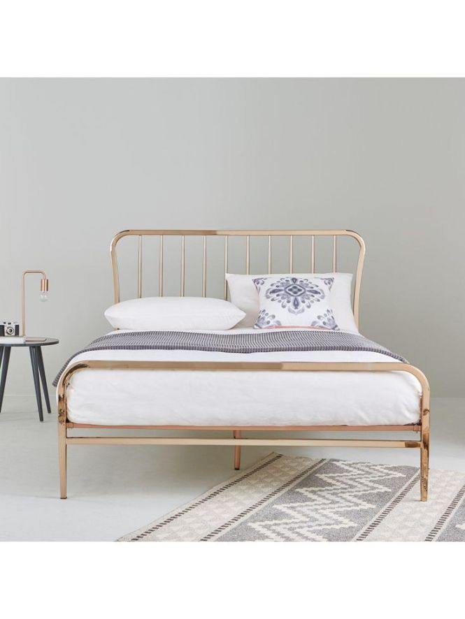 Webster Metal Double Bed Frame With Mattress Options And Save