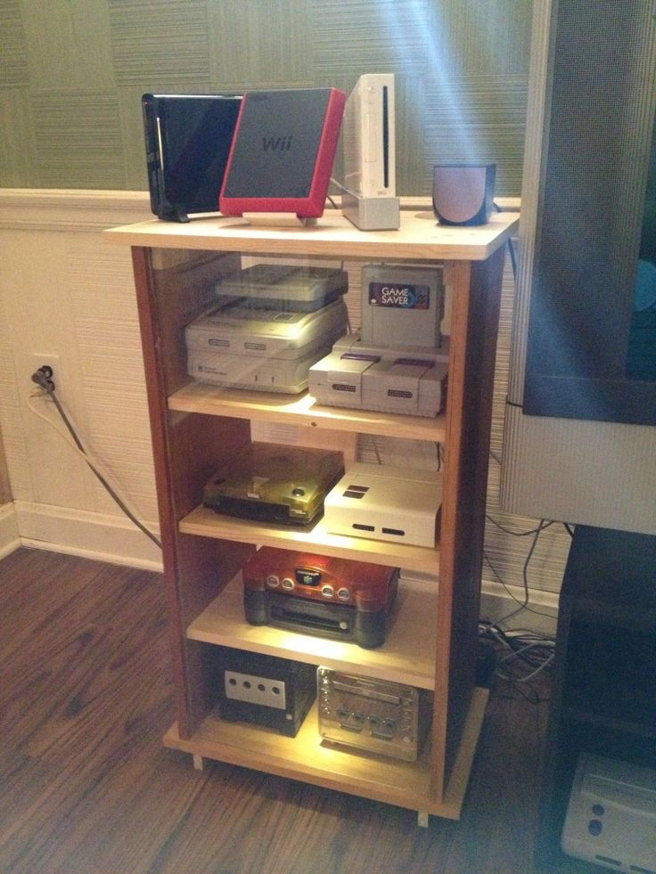 Video Game Console Furniture WoodWorking Projects Amp Plans