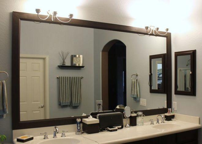 Diy bathroom mirror frame bathroom ideas pinterest