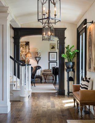 Framed Doorway, Hardwood Floors and Lanterns! – Joy Tribout Interior Design