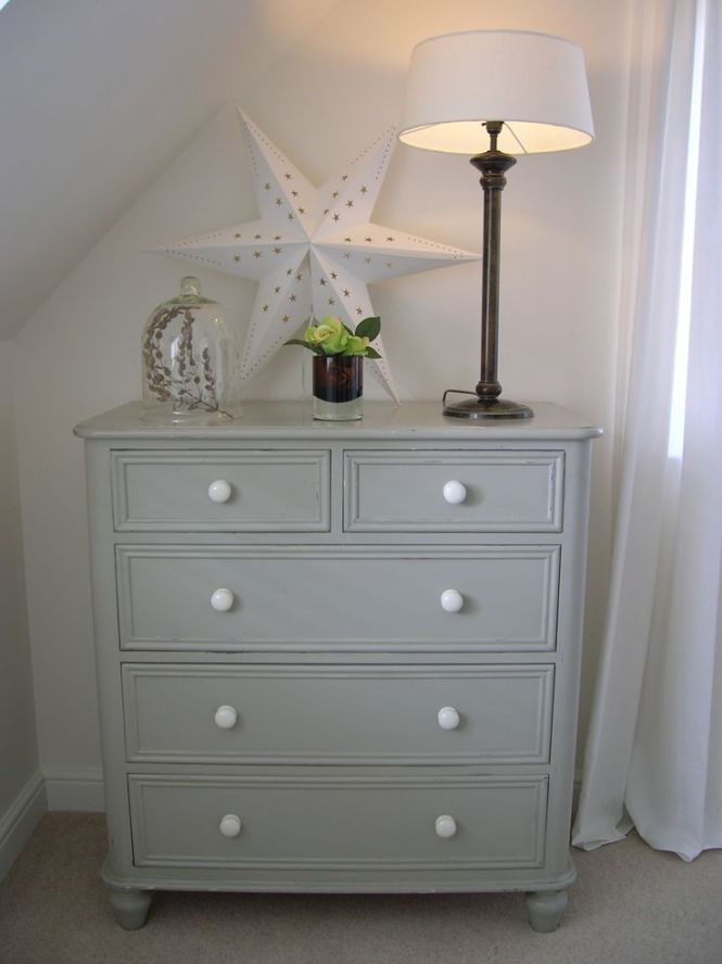 Old Chest Of Drawers Painted In Farrow Ball Hardwick White