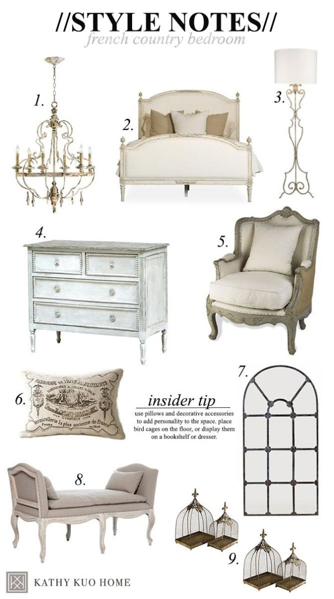 Style Notes Designing A French Country Bedroom