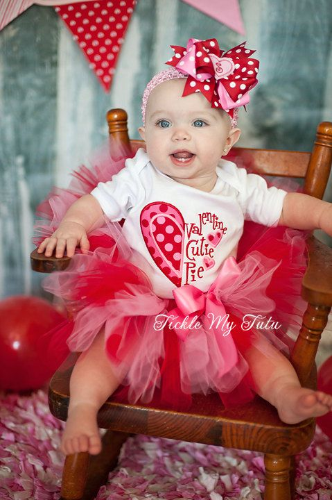 Valentine Cutie Pie Tutu Outfit My First Valentines Day