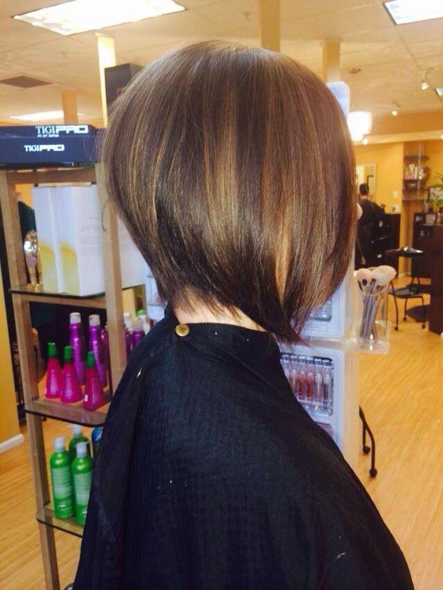 Short  hair  light  brown highlights Hair  Makeup
