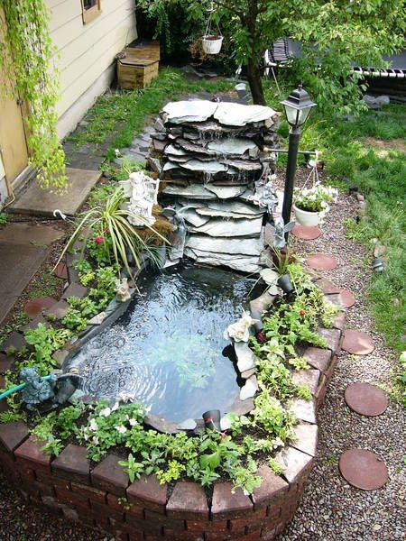 76 best images about Koi pond and waterfalls on Pinterest ... on Small Backyard Pond With Waterfall  id=56997