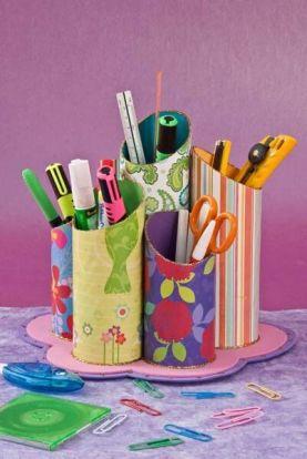 Resultado de imagen para lapiceros los tubos del papel higiénico