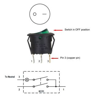 3 pin rocker led switch wiring diagram  Buscar con Google