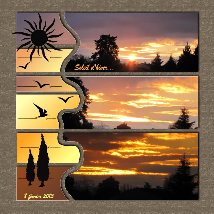 I like this…I have lots of sunset shots and this is a nice layout for them.