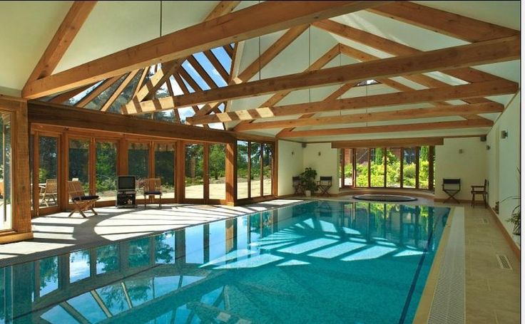 Indoor Pool In Rustic Setting