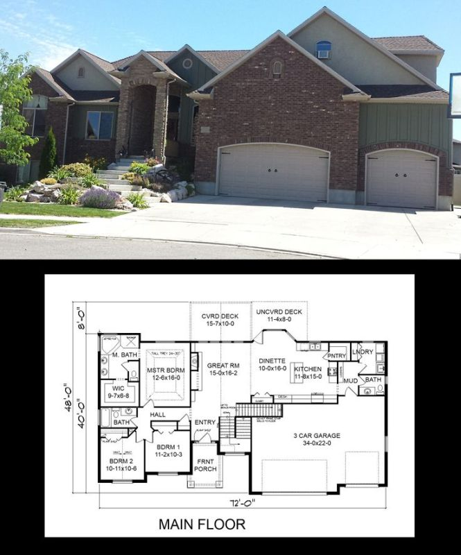 House Plans With 3 Car Garage And Bonus Room | Amazing House Plans