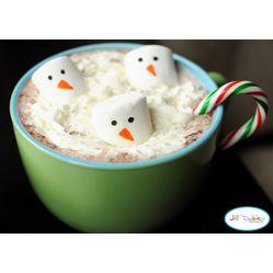 Snowman Hot Chocolate  #Christmas #Food Ideas for #Kids