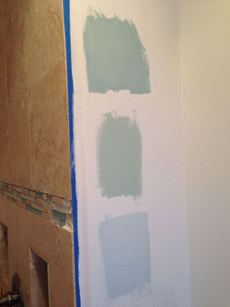 Top To Bottom Benjamin Moore Gossamer Blue Palladian Blue Amp Ocean Air Went With Ocean Air For