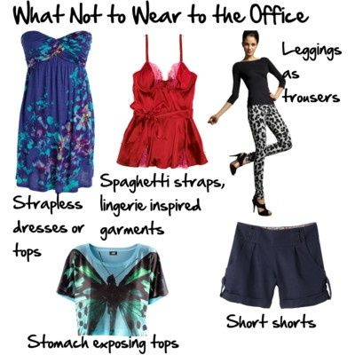 17 Best images about What NOT to Wear to Work on Pinterest