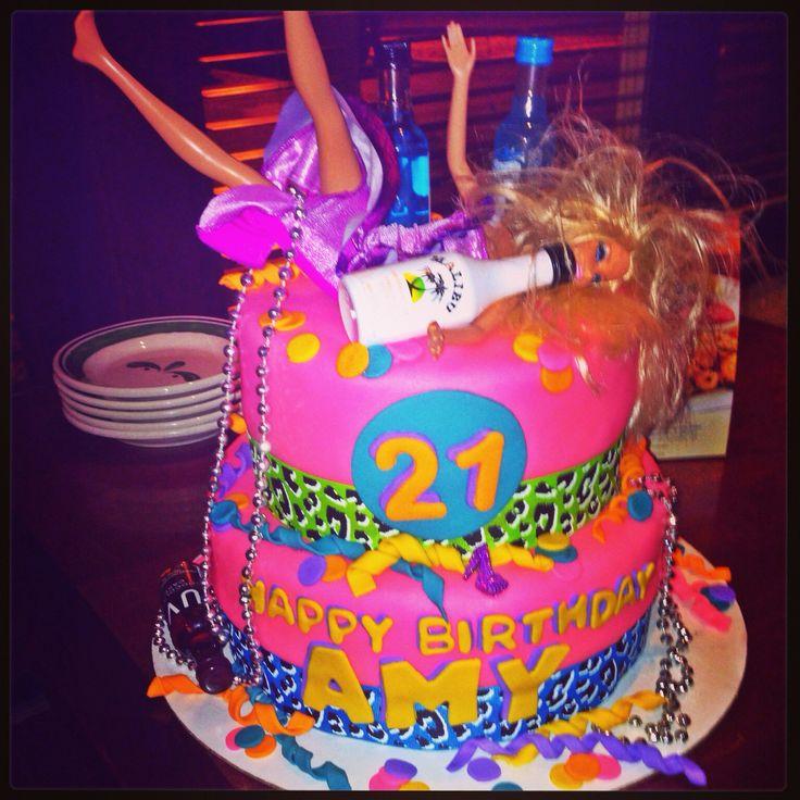 My 21st Birthday Cake I Uploaded Pinterest 21st