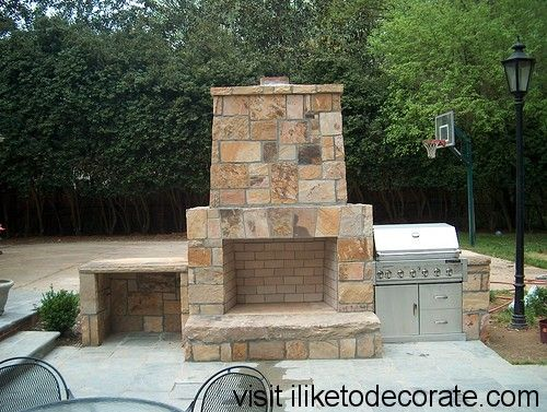 17 Best images about Back Yard and Deck Ideas on Pinterest ... on Building Your Own Outdoor Fireplace id=48863