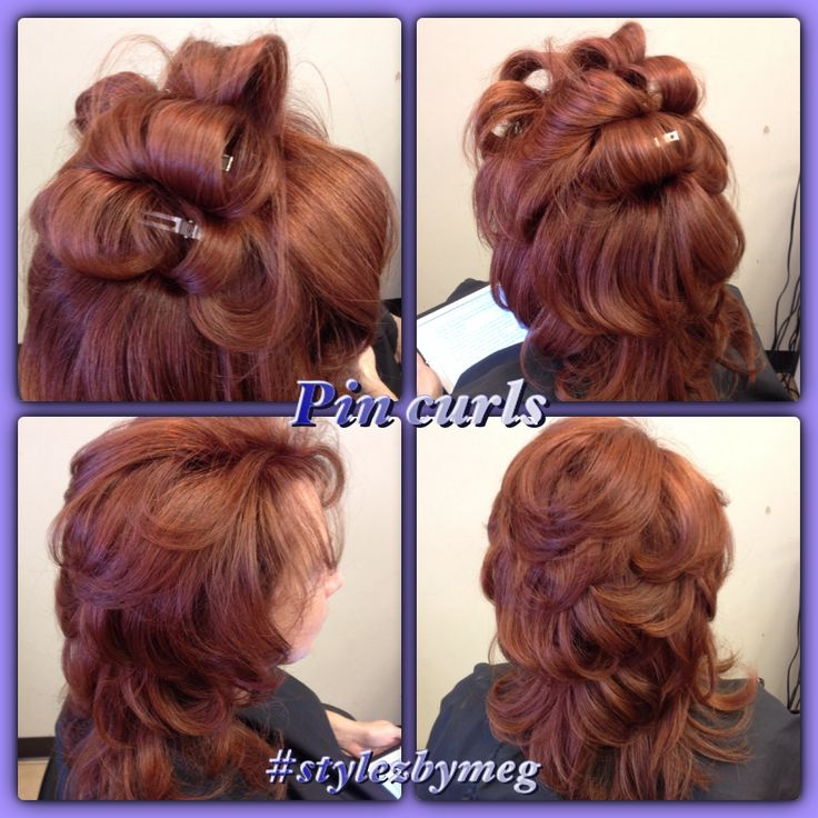 DIY Pin Curls Blow Dry Hair In Sections As Big As Your