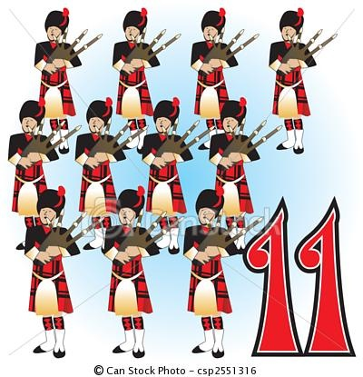 Download 12 Days of Christmas, Day 11 - Eleven Pipers Piping ...