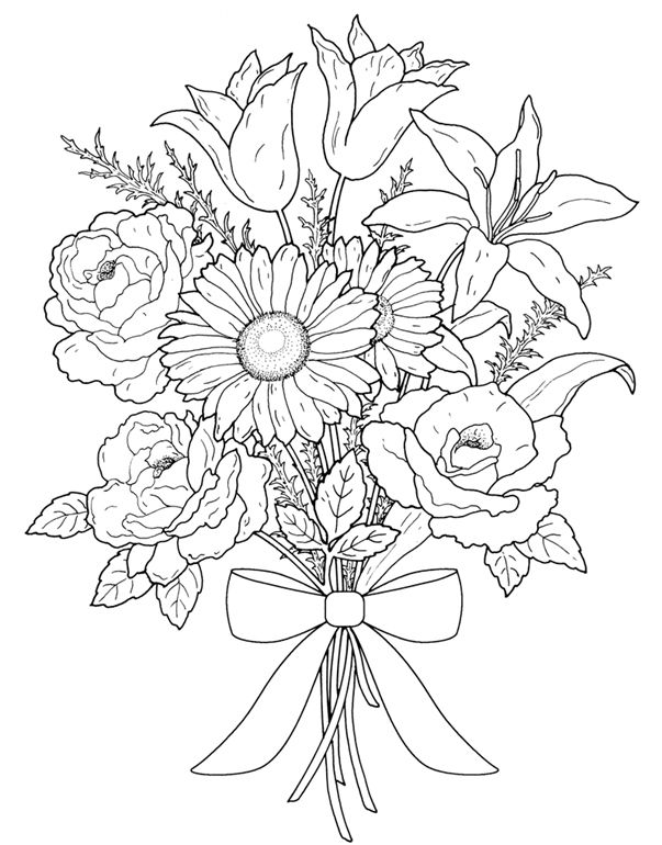 Floral Bouquets Coloring Book Coloring Pages First