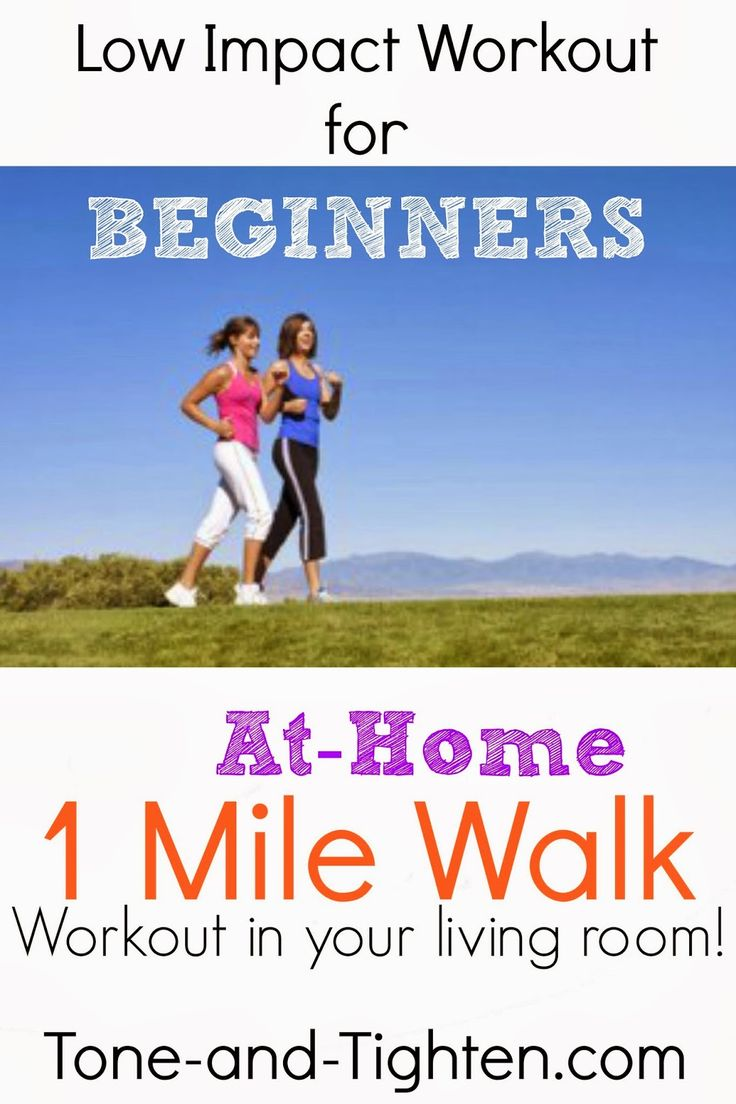 Low Impact Workout For Beginners 1 Mile Walk To Do At