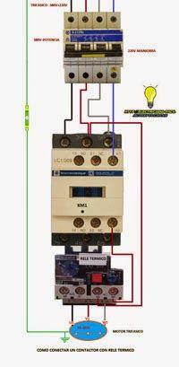 Esquemas eléctricos: Como conectar un contactor trifasico con rele term | Esquemas eléctricos