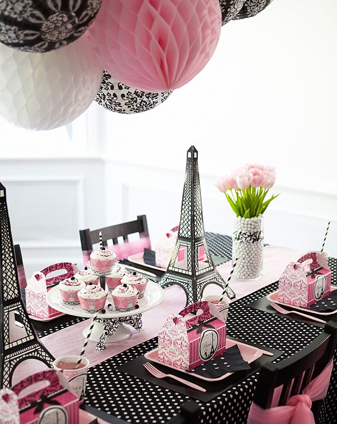 paris+themed+centerpieces | Paper h