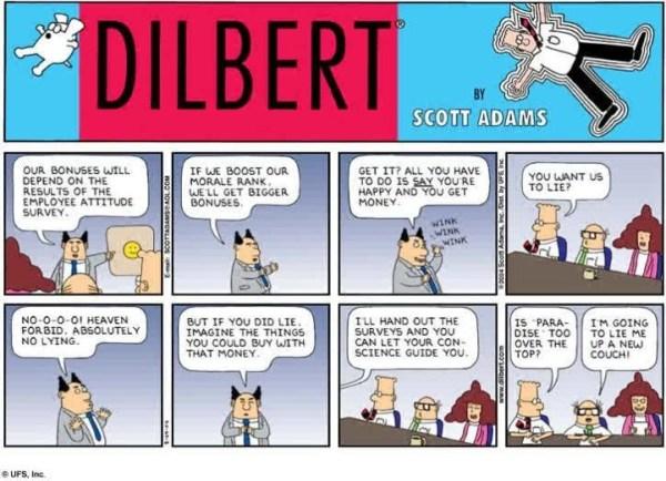 Employee Attitude Survey - #Dilbert | Employee Experience ...