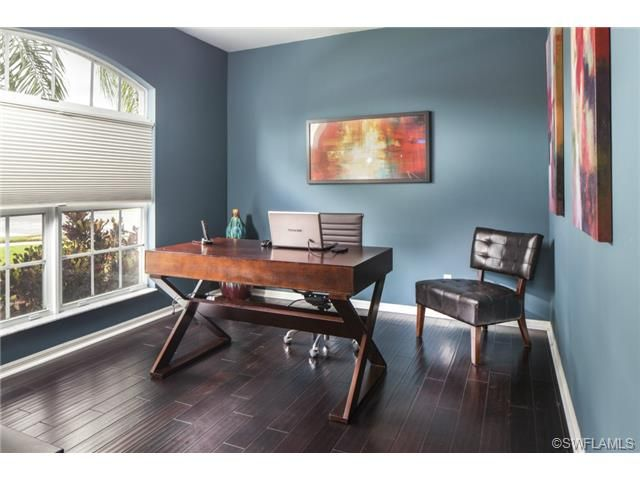 amazing blue home office dark wood floors laurel lakes on blue office color id=74791