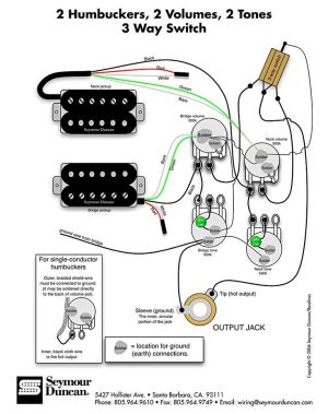 Wiring Diagram for 2 humbuckers 2 tone 2 volume 3 way