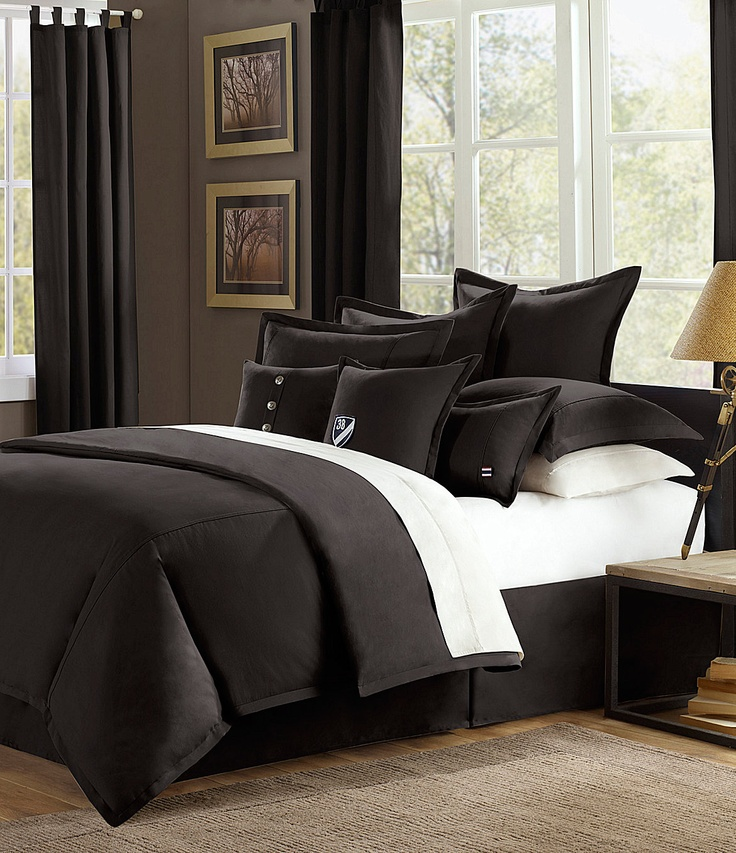 Cremieux Classic Twill Black Bedding Collection Dillards