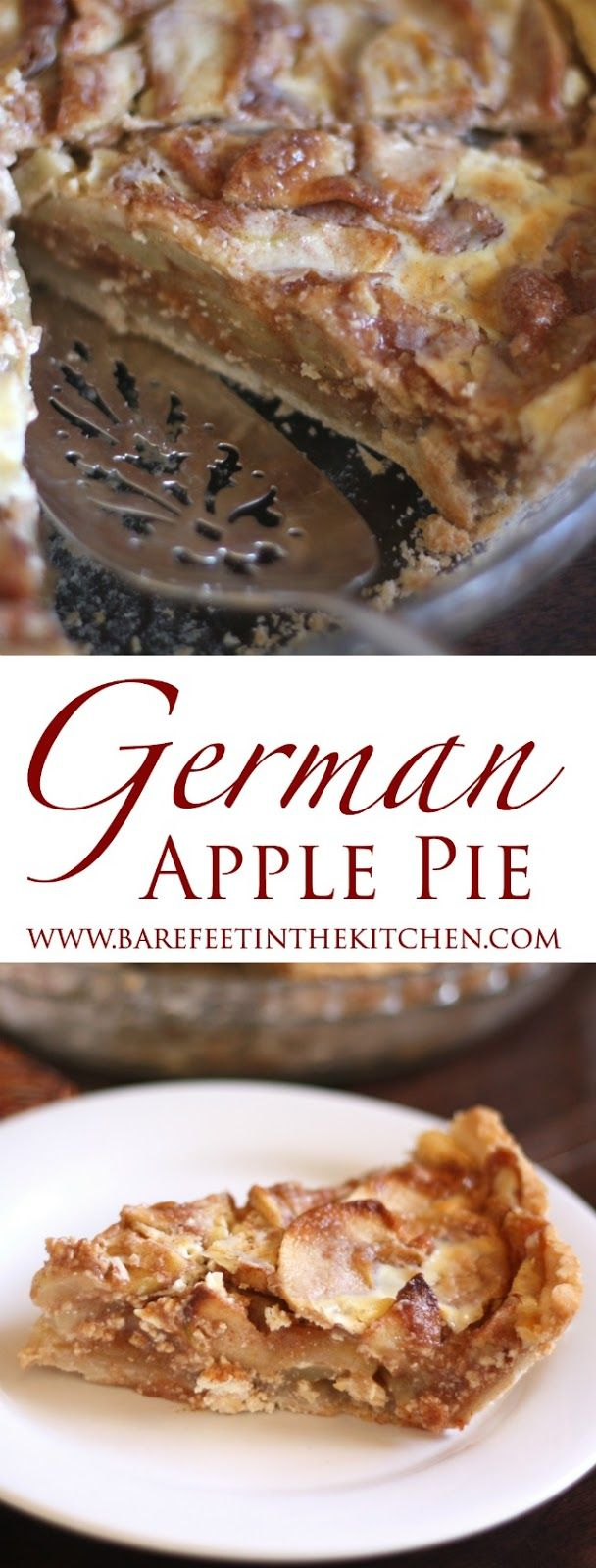 German Apple Pie is like no other apple pie you've ever tasted! – get the recipe at barefeetinthekitc.