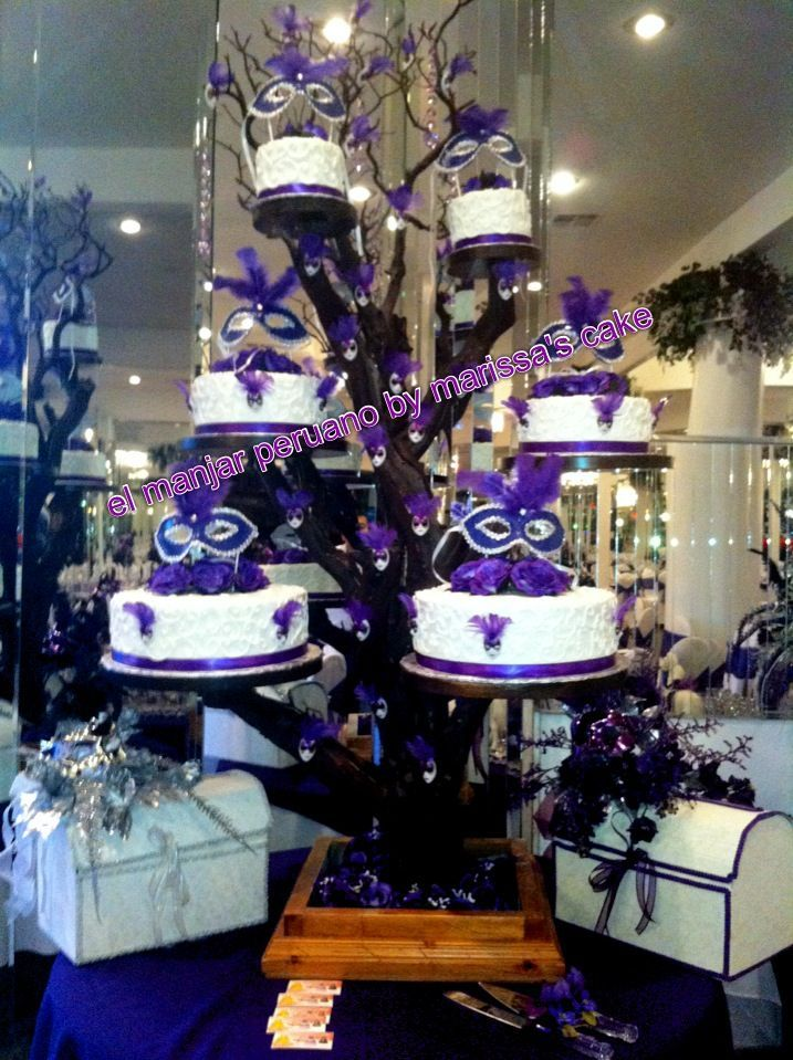 Quinceanera Tree Cake Stands For Sale Masquerade