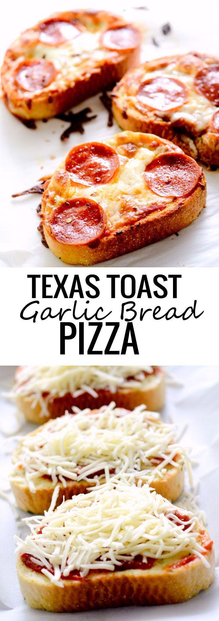 Texas Toast Garlic Bread Pizza – Recipe Diaries